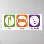 Eat Sleep Play Banjo Posters