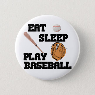Eat, Sleep, Play Baseball Button
