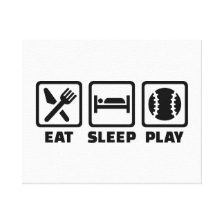Eat Sleep play Baseball Gallery Wrapped Canvas