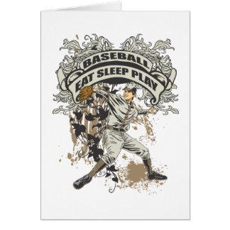 Eat, Sleep, Play Baseball Card