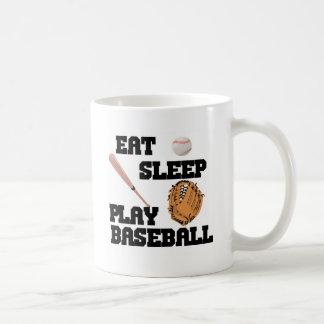 Eat, Sleep, Play Baseball Coffee Mug