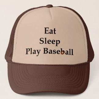 Eat, Sleep, Play Baseball Hat