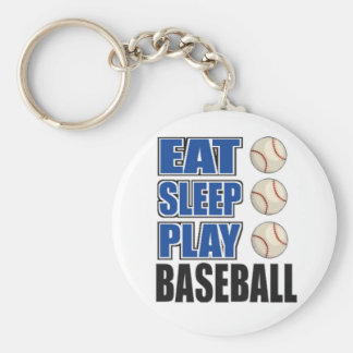 Eat, Sleep, Play Baseball Keychain