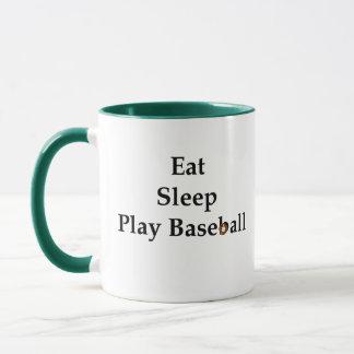Eat, Sleep, Play Baseball Mug