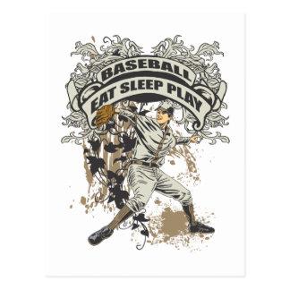 Eat, Sleep, Play Baseball Postcard