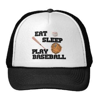Eat, Sleep, Play Baseball Trucker Hat