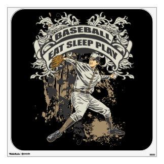 Eat, Sleep, Play Baseball Wall Sticker