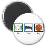 Eat Sleep Play Basketball 2 Inch Round Magnet