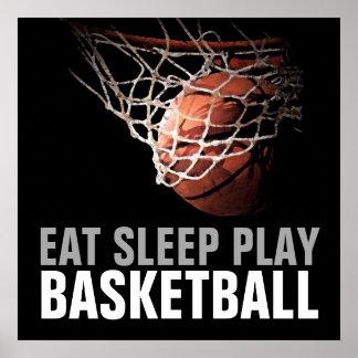 Eat Sleep Play Basketball Artwork Poster