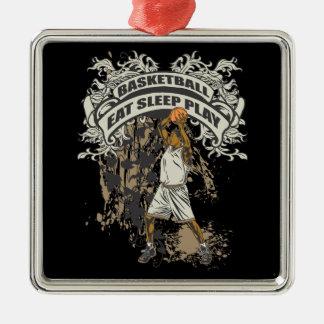 Eat, Sleep, Play Basketball Metal Ornament