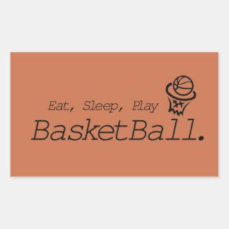 Eat, Sleep, Play BasketBall Rectangular Sticker