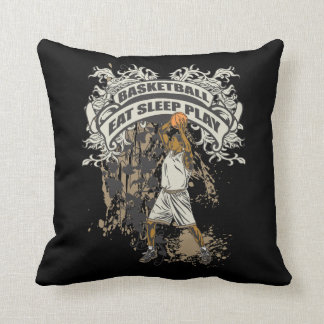 Eat, Sleep, Play Basketball Throw Pillow