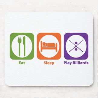 Eat Sleep Play Billiards Mouse Pad