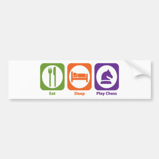 Eat Sleep Play Chess Bumper Sticker