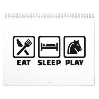 Eat sleep play chess calendar