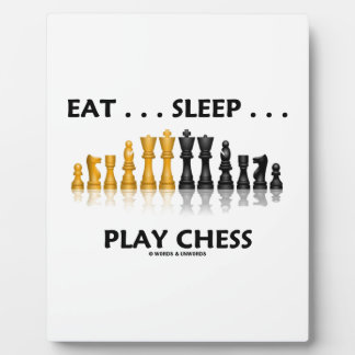 Eat ... Sleep ... Play Chess Reflective Chess Set Plaque