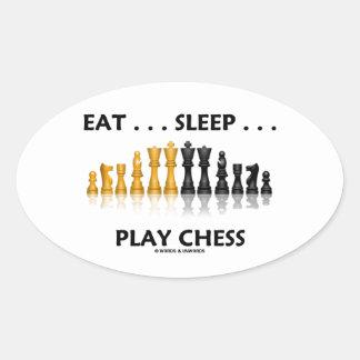 Eat ... Sleep ... Play Chess Reflective Chess Set Stickers