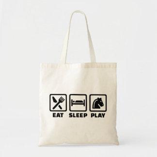 Eat sleep play chess tote bag