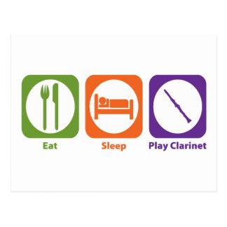 Eat Sleep Play Clarinet Postcard