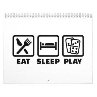 Eat sleep play Domino Calendar