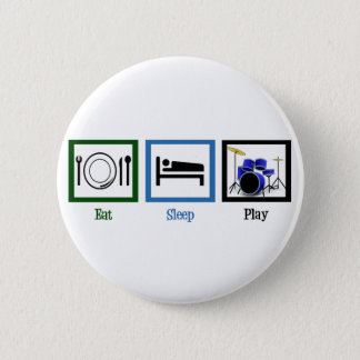 Eat Sleep Play Drums Button