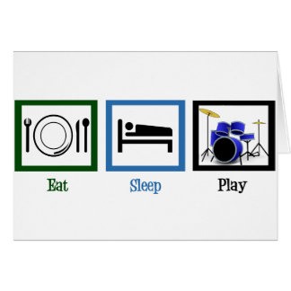 Eat Sleep Play Drums Card