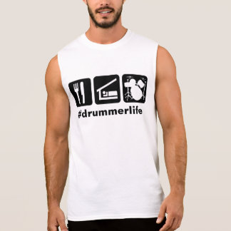 Eat Sleep Play Drums Icons Sleeveless Shirt