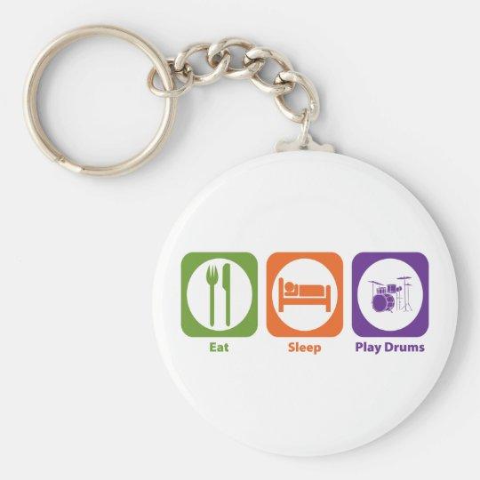 Eat Sleep Play Drums Keychain
