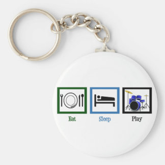 Eat Sleep Play Drums Keychain