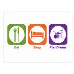 Eat Sleep Play Drums Postcard