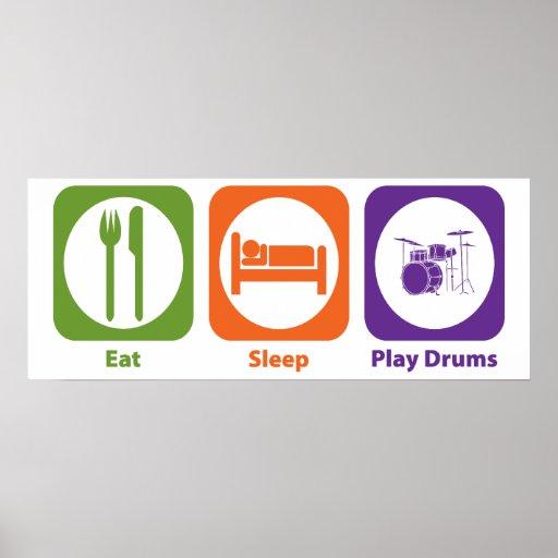 Eat Sleep Play Drums Poster
