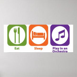 Eat Sleep Play en una orquesta Póster