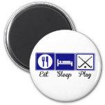 Eat, Sleep, Play - Field Hockey 2 Inch Round Magnet