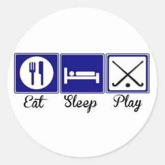 Eat, Sleep, Play - Field Hockey Classic Round Sticker