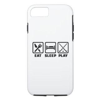 Eat sleep play field hockey iPhone 7 case