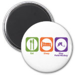 Eat Sleep Play Field Hockey Magnets