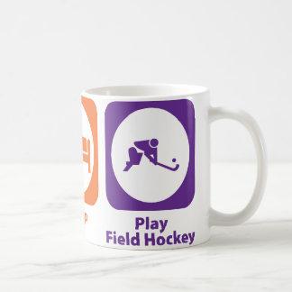 Eat Sleep Play Field Hockey Mugs