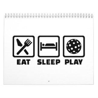 Eat Sleep Play Floorball Calendario De Pared