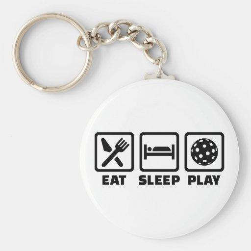 Eat Sleep Play Floorball Llavero