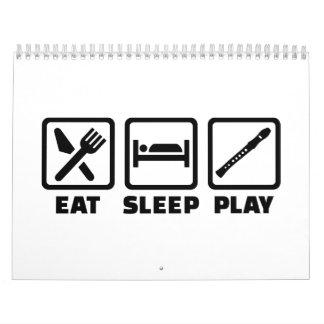 Eat Sleep Play Flute Calendar