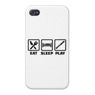 Eat Sleep Play Flute Cover For iPhone 4