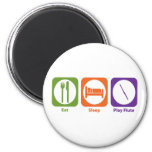 Eat Sleep Play Flute Fridge Magnet