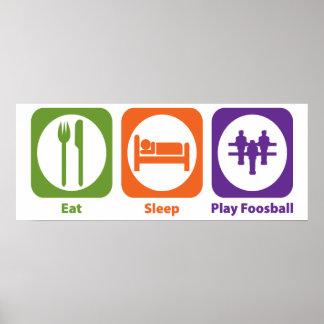 Eat Sleep Play Foosball Impresiones
