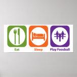 Eat Sleep Play Foosball Poster