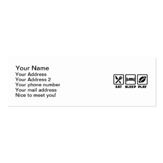 Eat Sleep play Football Double-Sided Mini Business Cards (Pack Of 20)