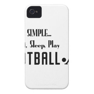 eat sleep play football iPhone 4 case