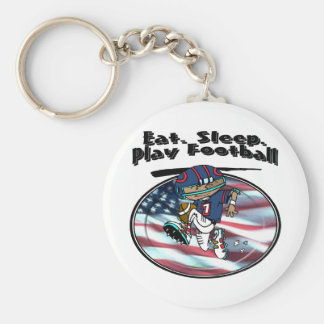 Eat Sleep Play Football Keychain