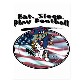 Eat Sleep Play Football Postcard