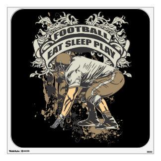 Eat, Sleep, Play Football Wall Sticker