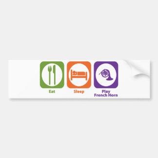 Eat Sleep Play French Horn Bumper Sticker